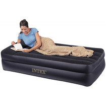 Tm Colchon Inflable Intex Twin Pillow Rest Raised Air Bed I