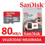 Memoria Celular Microsd Hc 32gb Sandisk Ultra Microsd 80mb/s