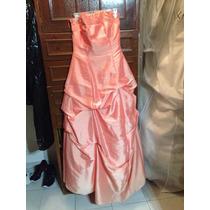 Vestido De Fiesta Color Melon Talla 10