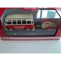 Coca Cola Volkswagen Samba Bus With Trailer 1962 Escala 1/43