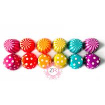 480 Capacillos Decorados #73 Estándar Cupcake Colores