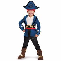 Disfraz Jake Pirata Capitán Disney 3/4 Años Entrega Inmediat