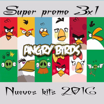 Kit Imprimible Angry Birds Cumple+candy Imagenes Fondos Mas