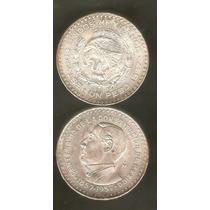 Peso De Plata Juarez Centenario De La Const. 1957