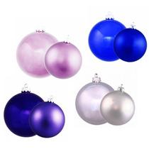 Navidad 65 Esferas Plástico Plata Lila Azul O Morado Adornos