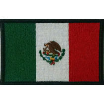 Banderas Bordadas (parches Bordados) De 9x6 Cms.