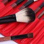Set 22 Brochas Pelo 100% Natural Cabra Estuche Rojo Vinipiel