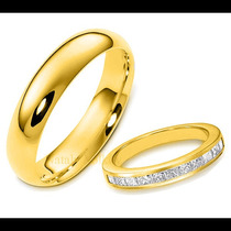 Argollas De Matrimonio Mod. Burdeos Oro 10k Matrimoniales
