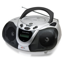 Tm Axess Pb2706 Portable Boombox Mp3/cd Player With Text