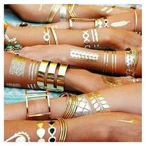 Flash Tattoo 4 Planillas Envío Gratis Tatuajes Metálicos