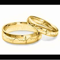 Argollas De Matrimonio Mod. Cardio En Oro 10k Matrimoniales
