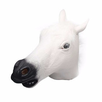 Disfraz Signstek Horror Scary White Horse Head Mask For Hall