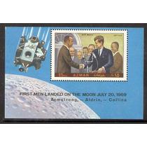 Ajman Emiratos Arabes Hojita Primer Hombre En La Luna