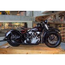 Lienzo Tela Moto Harley Davidson 1940 , 60 X 90 Cm, Poster