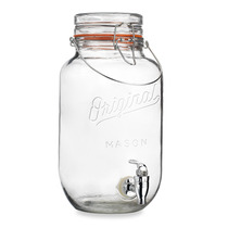 Original Mason Jar Dispensador De Bebidas 3.6qt 3.48 Litros