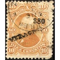 1851 Clásico Hidalgo Scott #108 Veracruz #380 10c Usado
