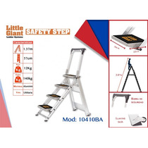Escalera De Aluminio Jumbo De 4 Peldaños Con Barra, 10510ba