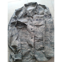 Camisola Us Air Force Original Militar Digital Parches