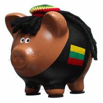 Alcancías Reggae Bob Marley Rasta Cerditos Puerquitos