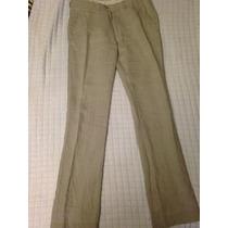 Pantalon De Vestir Zara Man Color Cafe Talla 30 Vestir