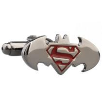 Mancuernillas Batman Superman Superheroes Comics Camisa