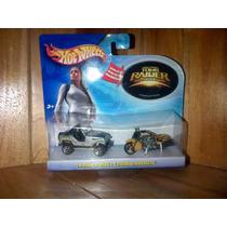 Tom Raider Lara Croft Hot Wheels Jeep Y Motocicleta Set