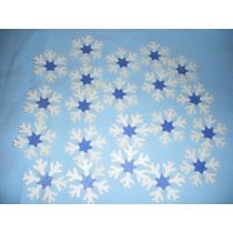 Oblea Con Forma Copo Nieve Frozen Para Gelatinas Pasteles