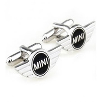 Mancuernillas Mini Cooper Logo Automovil Camisa Traje Acero