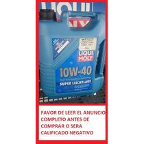 Aceite Sintético Liqui Moly Super Leichtlauf 10w-40 5 Litros