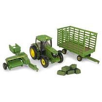 Ertl Collectibles John Deere 6210r Tractor Balas Set