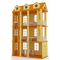 Casa Ensueño Para Muñecas Barbie Monster High En Madera Mdf