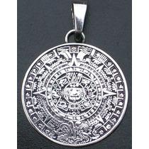 Dije Calendario Azteca En Plata Fina Ley.925