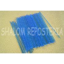 *50 Palitos De Plastico Cristal Azul,paletas Chocolate*