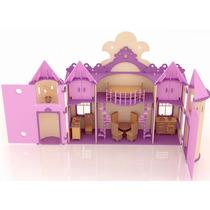 Casa De Muñecas Palacio De Princesa Barbie En Madera Mdf