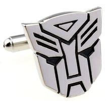 Mancuernillas Transformers Optimus Prime Camisa Plateadas