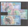 Colección De 3 Billetes De Aves De Surinam