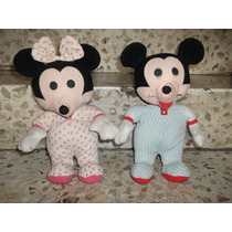 Mickey Mouse Y Minnie Mouse Peluche 90s Disney Originales