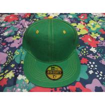Gorra Verde C/amarillo Ked & D B Boy Etiquetada 7 1/4