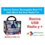 Bocina Vamav Recargable Usb/ Micro Sd/ Aux/ Radio Fm