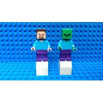 Lego Minecraft Steve Y Zombie Original Nuevos