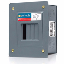 Centro De Carga Empotrable 4 Polos Acero 60 Hz Voltech 47196