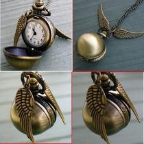 Harry Potter´s Quidditch Snich Reloj Dije De Colección