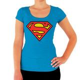 Blusa King Monster Modelo Logo Superman Dama