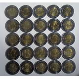 Mondeda De 5 Pesos Usadas Conmemorativas Rev E Ind