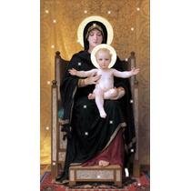 Lienzo Tela Virgen Con Niño Jesús Arte Sacro 1888 50 X 80cm