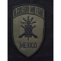 Parche Bordado Heróico Colegio Militar México Verde/negro
