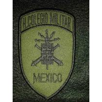 Parches Militares Colegio Militar México Bordado Verde/negro
