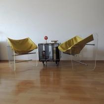 Juego De Sillones Acrílico Vintage Diseño De Años 70s