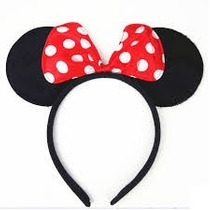 12 Diadema Mimi O Mickey Fiestas Eventos Minnie Moño Orejas