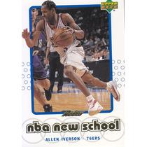 1999-00 Upper Deck Nba New School Allen Iverson Sixers